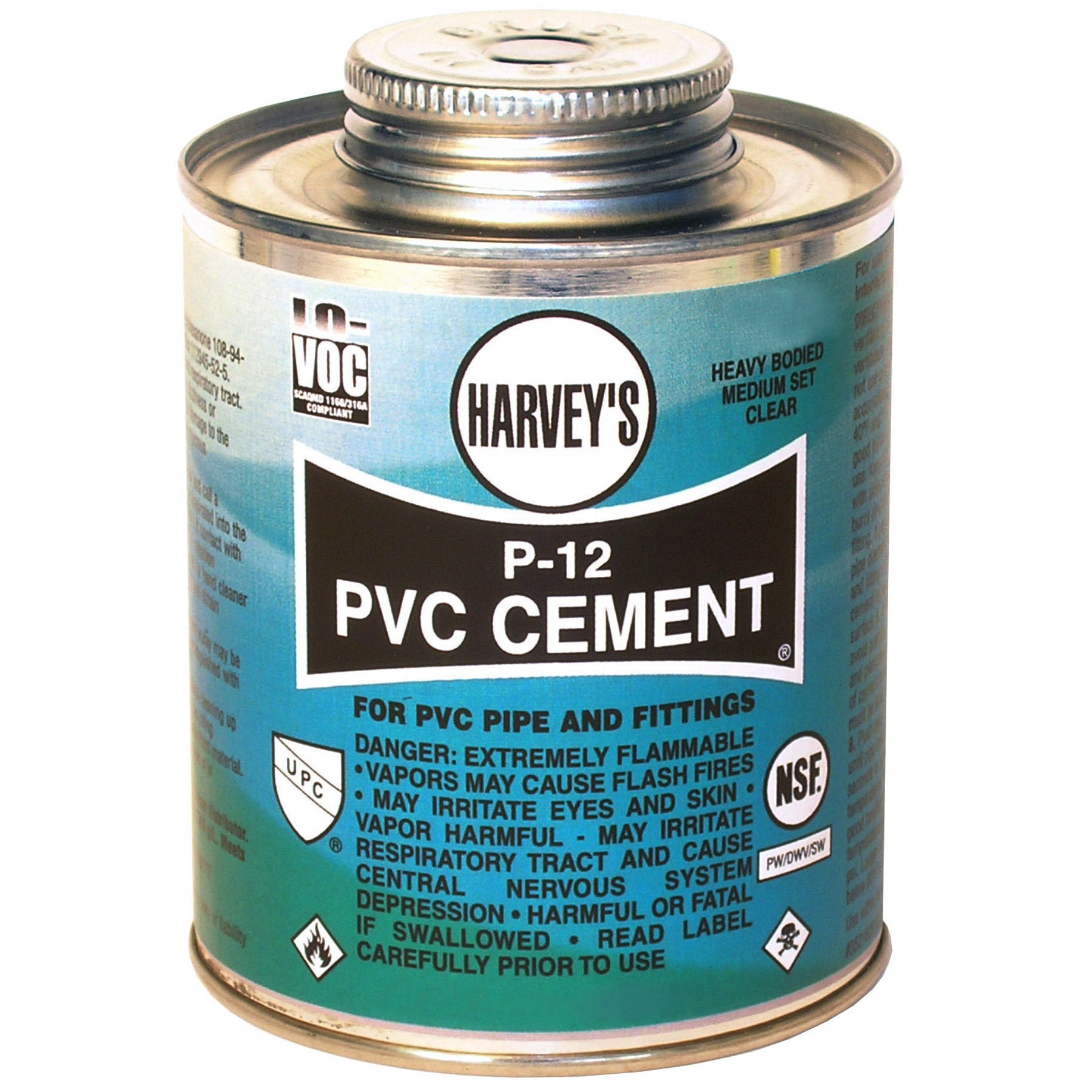 WM Harvey 018220-12 16 Oz P-12 Heavy Bodied Clear PVC Cement (Cement Pvc Clr 16oz)