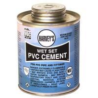 WM Harvey 018420-12 16 Oz Wet Set PVC Cement