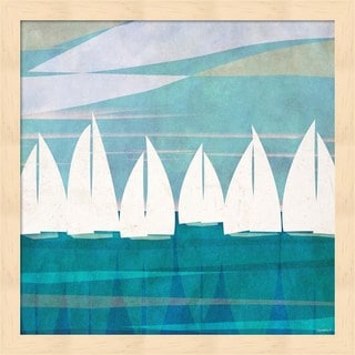 Dan Meneely 'Afternoon Regatta I' Framed Art
