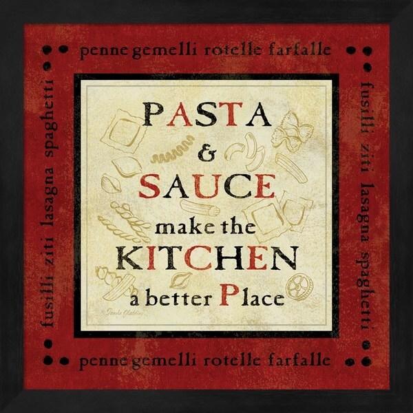 Pamela Gladding 'Pasta Sayings II' Framed Art
