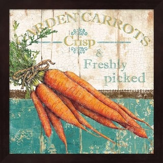 Marie-Elaine Cusson 'Garden Carrots' Framed Art