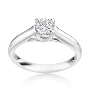 SummerRose 14k White Gold 1/2ct TDW Diamond Engagement Ring