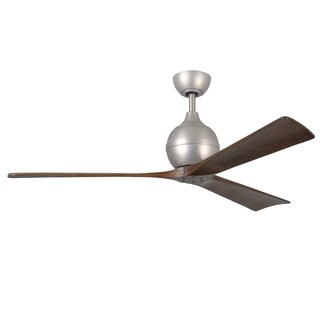 Matthew's Fan Company Irene Brushed Nickel 3-blade 60-inch Paddle Fan
