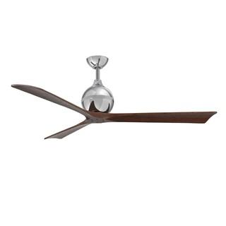 Matthews Fan Company Irene Polished Chrome Aluminum/Steel/Wood 60-inch 3-blade Paddle Fan