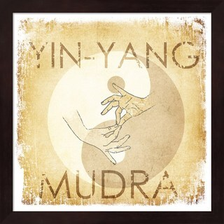 Yin-Yang Mudra' Framed Art