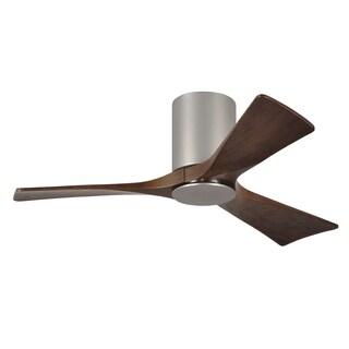 Matthews Fan Company Irene 3-blade 42-inch Brushed Nickel Hugger Paddle Fan with Light Kit