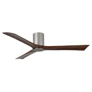 Matthews Fan Company Irene Brushed Nickel 60-inch 3-blade Hugger Paddle Fan With Light Kit - Silver