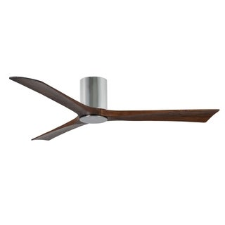 Matthews Fan Company Irene 3-blade 60-inch Polished Chrome Hugger Paddle Fan with Light Kit