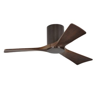 Matthew's Fan Company Irene Walnut-toned 3-blade 42-inch Textured-bronze Hugger Paddle Fan with Light Kit