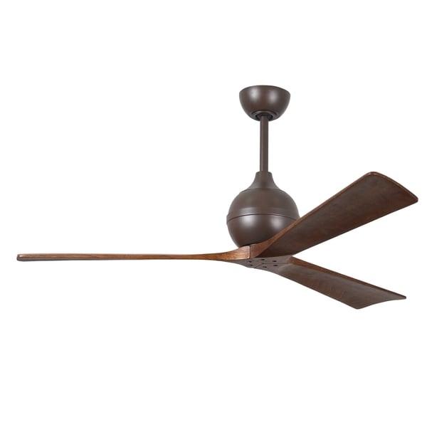 Matthews Fan Company Irene Textured Bronze Aluminum/Steel/Wood 60-inch 3-blade Paddle Fan