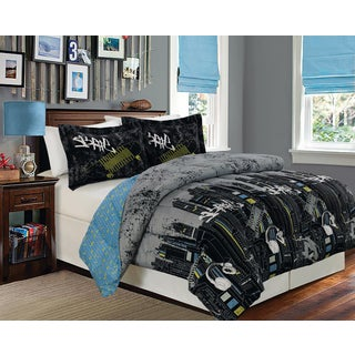 Skate Full/ Queen 1-Piece Reversible Comforter