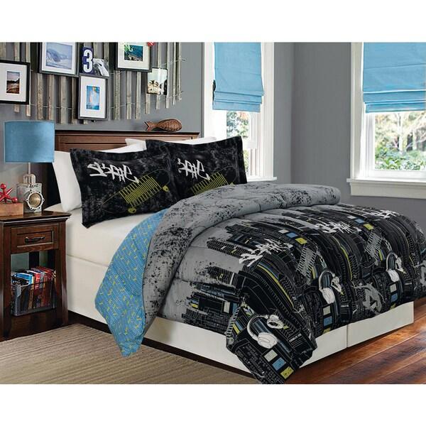 Skate Full/ Queen 1-Piece Reversible Comforter