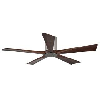 Matthews Fan Company Irene Brushed Nickel/Walnut Aluminum/Steel/Wood 52-inch 5-blade Hugger Paddle Fan With Light Kit