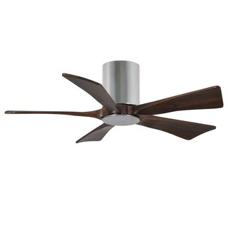 Matthew's Fan Company Irene Polished Chrome 5-blade 42-inch Hugger-paddle Fan with Light Kit