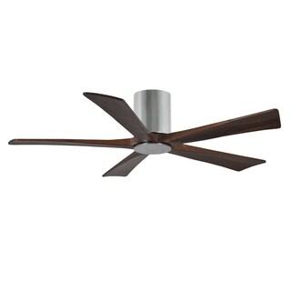 Matthews Fan Company Irene 5-blade 52-inch Polished Chrome Hugger Paddle Fan with Light Kit - Silver