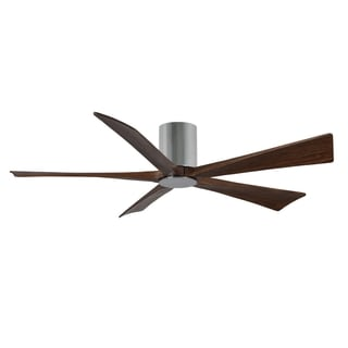 Matthews Fan Company Irene Polished Chrome Aluminum/Steel/Wood 5-blade 60-inch Hugger Paddle Fan with Light Kit