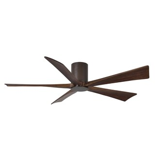 Matthews Fan Company Irene 5-blade 60-inch Textured Bronze Hugger Paddle Fan with Light Kit