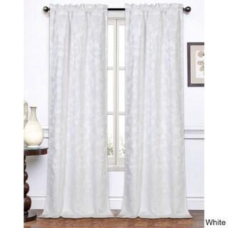 Melanie Jacquard 96-Inch Curtain Panel Pair