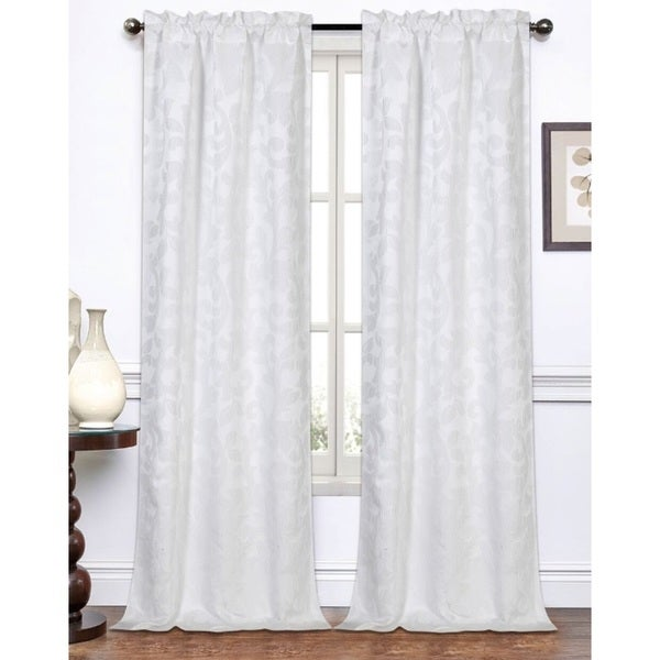 melanie jacquard 96 inch curtain panel pair free