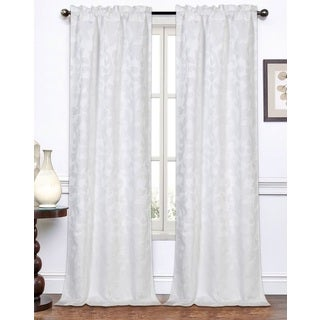 Melanie Jacquard 96-Inch Curtain Panel Pair