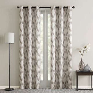 Madison Park Essentials Arlo Textured Grommet Top Curtain Panel Pair 2-Color Option