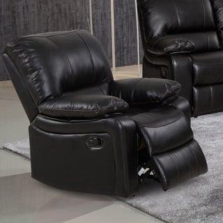 samantha leather gel living room rocking reclining chair - Black Leather Recliner Chair