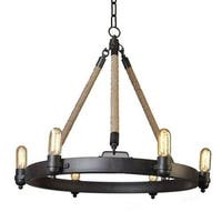Y-Decor 6 Light Rope Chandelier in Oil Rubbed Bronze Finish
