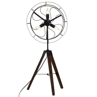 Bombay Reclaimed Wood Fan Table Lamp