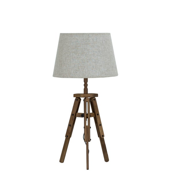 Shop Somette Steampunk Reclaimed Wood Table Lamp Free Shipping