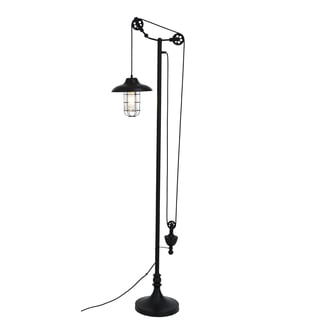 Bombay Steampunk Black Adjustable 68 inch Floor Lamp
