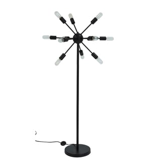 Somette Steampunk Black 63-inch Floor Lamp