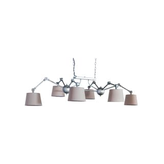 Somette Six Adjustable Arm Pewter Pendant Lamp