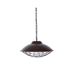 Somette Round Antique Bronze Caged Pendant Lamp