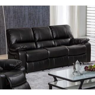Samantha Leather Gel Living Room Reclining Sofa