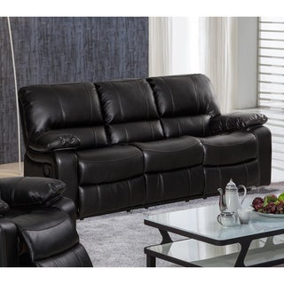 Samantha Leather Gel Living Room Reclining Sofa