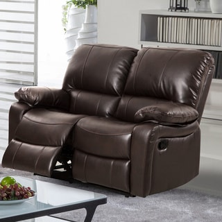 Samantha Leather Gel Reclining Loveseat