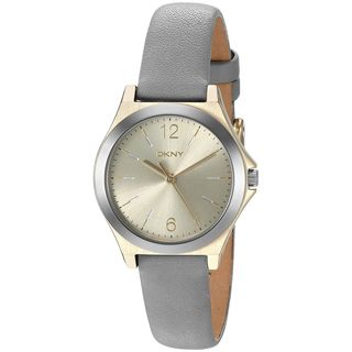 DKNY Women's NY2482 'Parsons' Grey Leather Watch