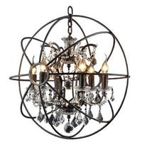 Y-Decor Rustic Black Finish 6-light Chandelier