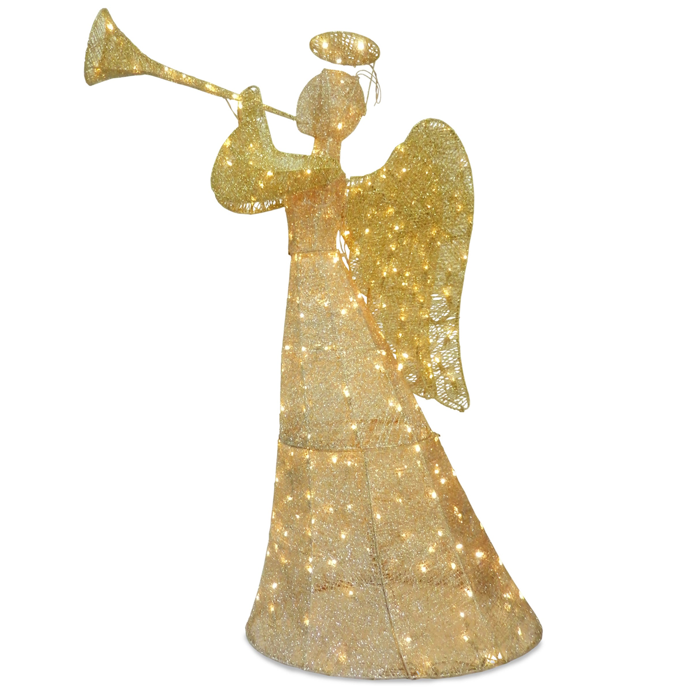 National Tree 60-inch Angel Decoration With LED Lights (C...