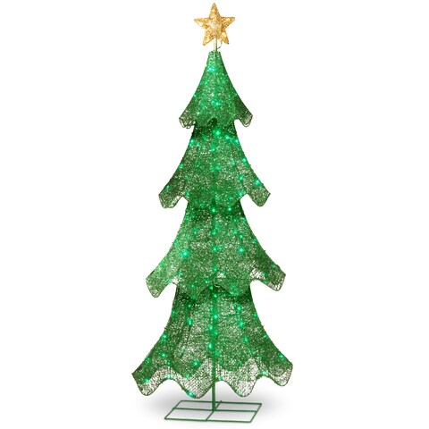 Green Sisal 60-inch Christmas Tree with 120 LED Lights