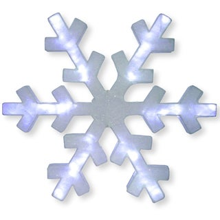 Acrylic Mesh 60-inch Snowflake Decoration with LED Lights