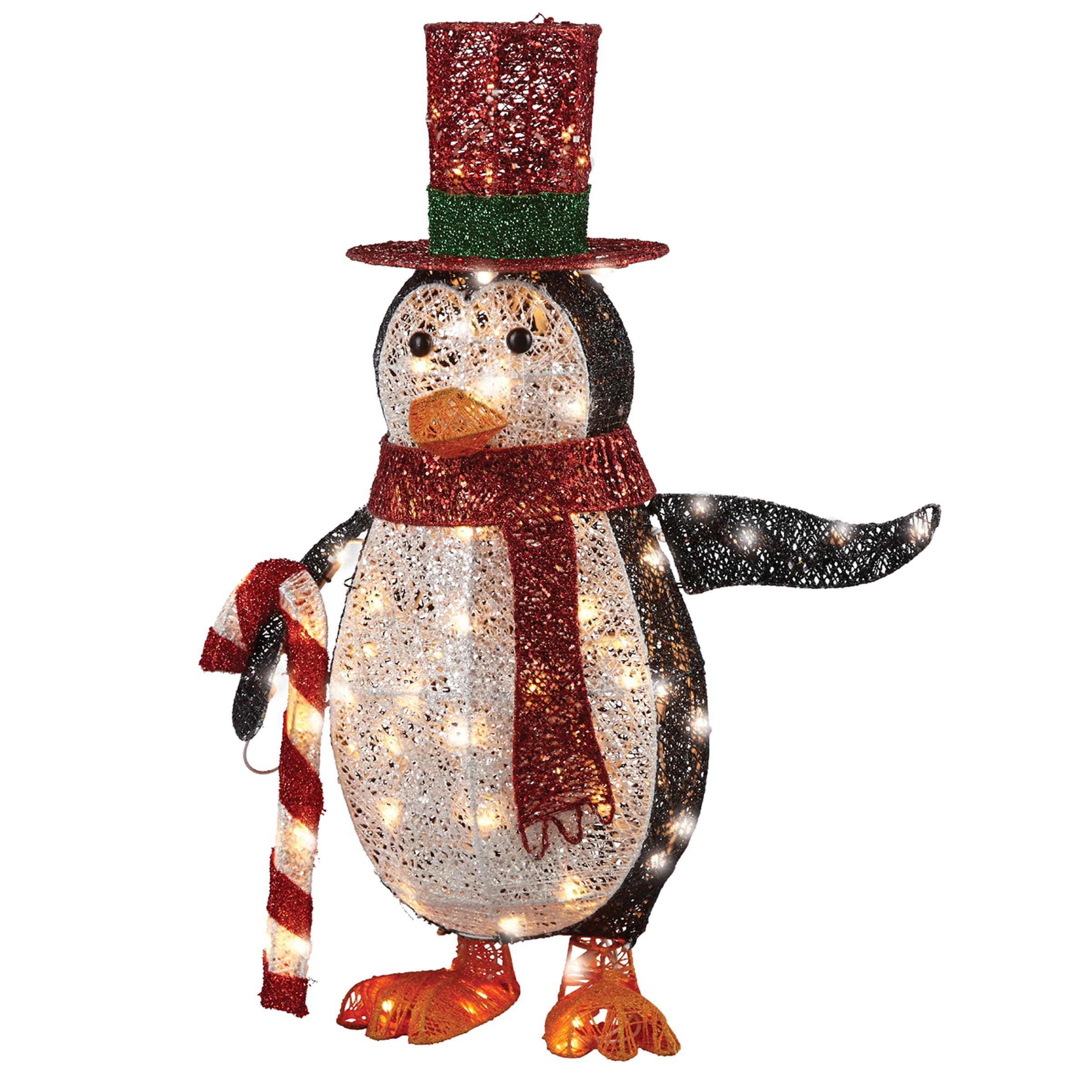 National Tree 36-inch Penguin With LED Lights (Black, Whi...