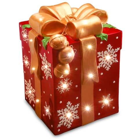 21-inch Pre-lit Gift Box Decoration