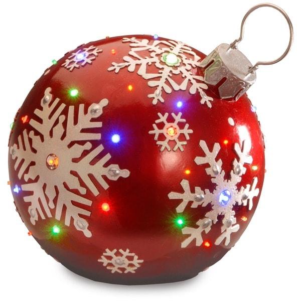 Large Shop Christmas Decorations: Shop 18-inch Pre-lit Ball Ornament Decoration