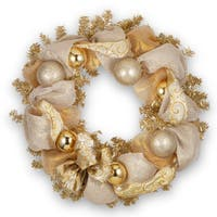 Gold 2-tone 27-inch Lace Wreath