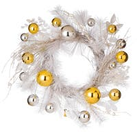 Gold and Silver 22-inch Ornament Wreath