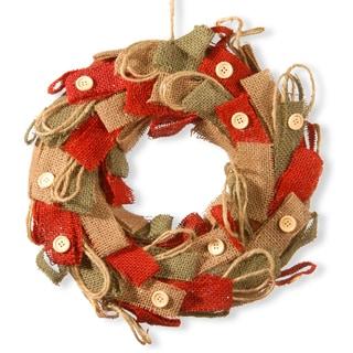 Burlap 12-inch Deco Wreath