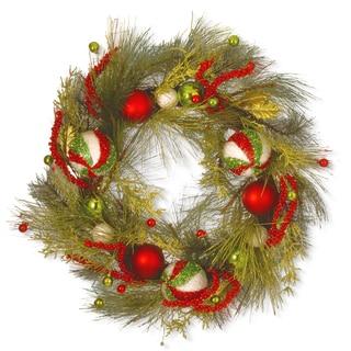 Artificial 30-inch Christmas Ball Wreath