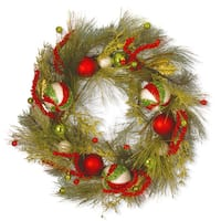 Artificial 30-inch Christmas Ball Wreath