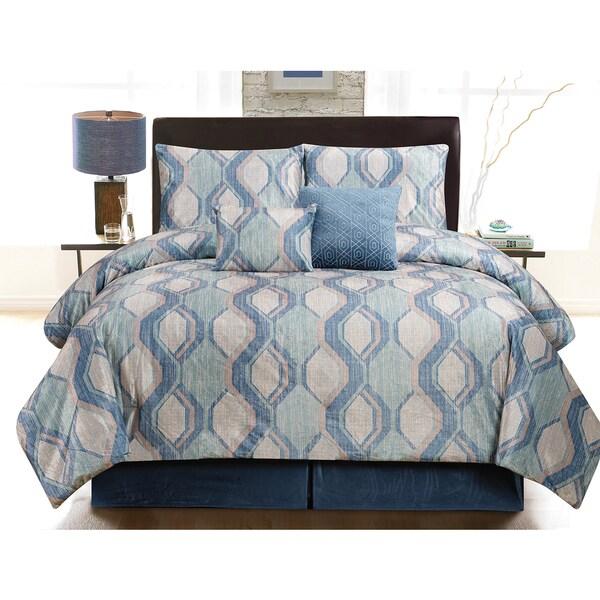 Oversized Velvet Plush Luxurious Comforter 6-Piece Set